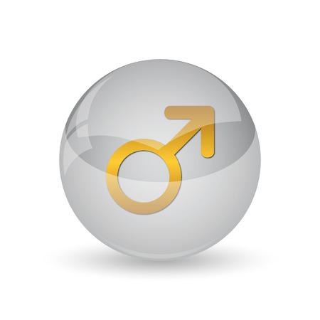 Male sign icon. Internet button on white background. Foto de archivo