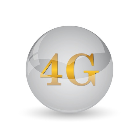 3g: 4G icon. Internet button on white background.