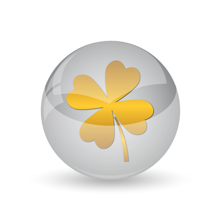 Clover icon. Internet button on white background.