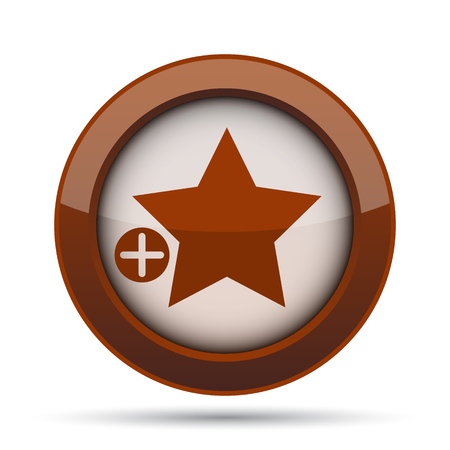 preference: Add to favorites icon. Internet button on white background.