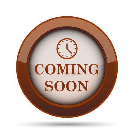 proclaim: Coming soon icon. Internet button on white background.