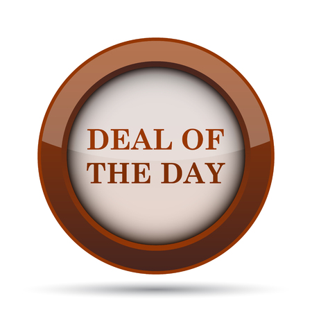 great deal: Deal of the day icon. Internet button on white background.