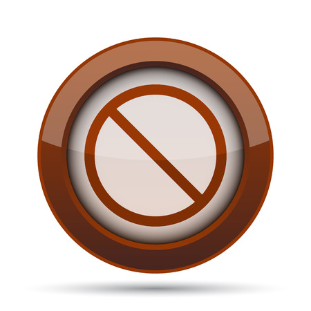 indicate: Forbidden icon. Internet button on white background. Stock Photo