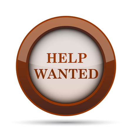 vacancy: Help wanted icon. Internet button on white background.