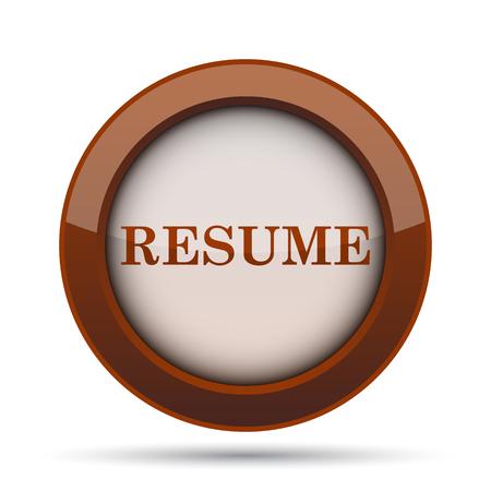 vacancy: Resume icon. Internet button on white background.
