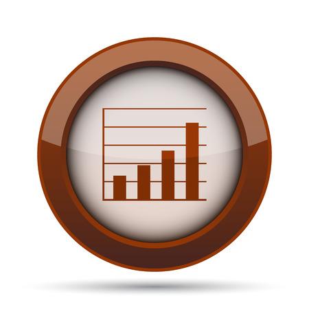 infochart: Chart bars icon. Internet button on white background.