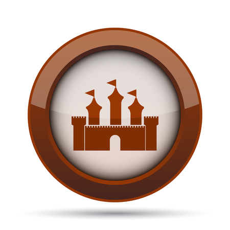 royal house: Castle icon. Internet button on white background.