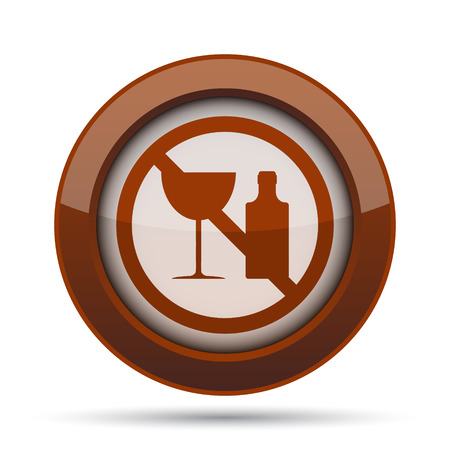 dont: No alcohol icon. Internet button on white background.
