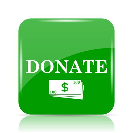 Donate icon. Internet button on white background.