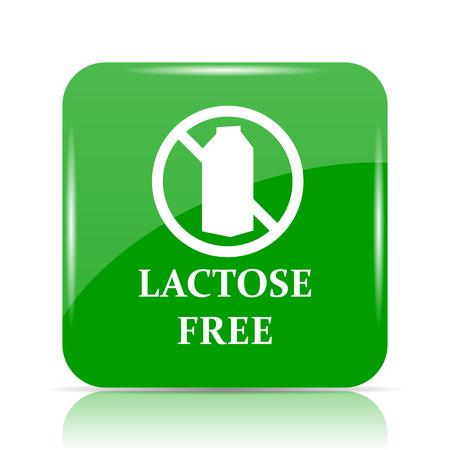 lactose: Lactose free icon. Internet button on white background. Stock Photo