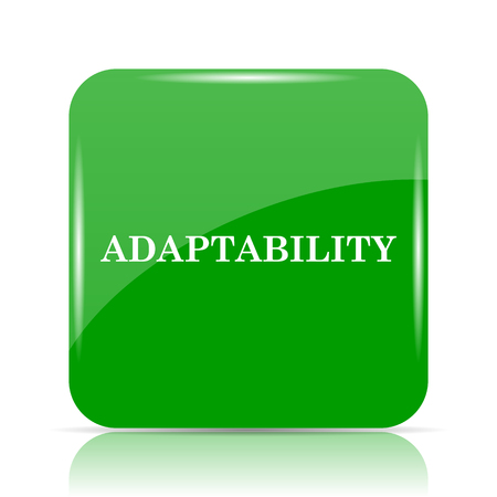 adapting: Adaptability icon. Internet button on white background.