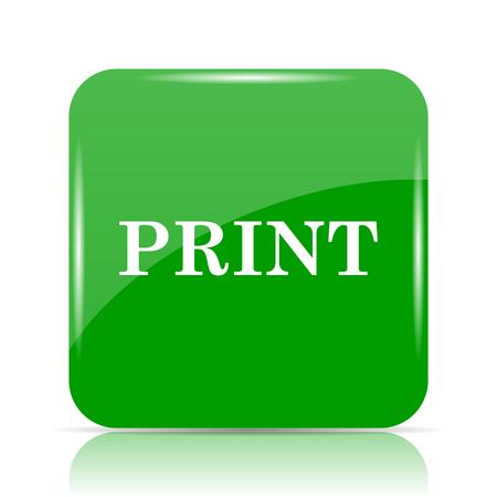 Print icon. Internet button on white background. Stock Photo
