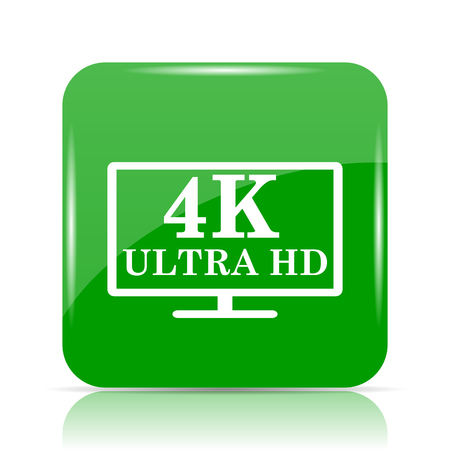 full screen: 4K ultra HD icon. Internet button on white background.