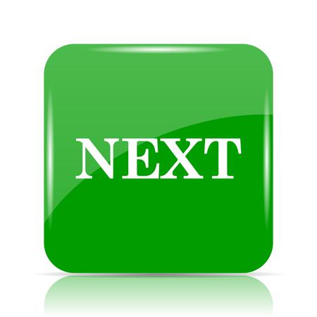 Next icon. Internet button on white background. Stock Photo