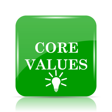 principles: Core values icon. Internet button on white background.