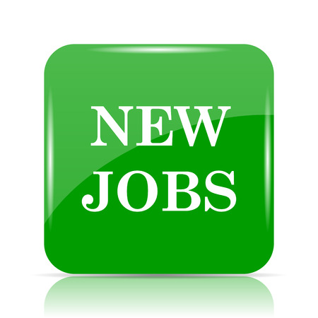 New jobs icon. Internet button on white background.