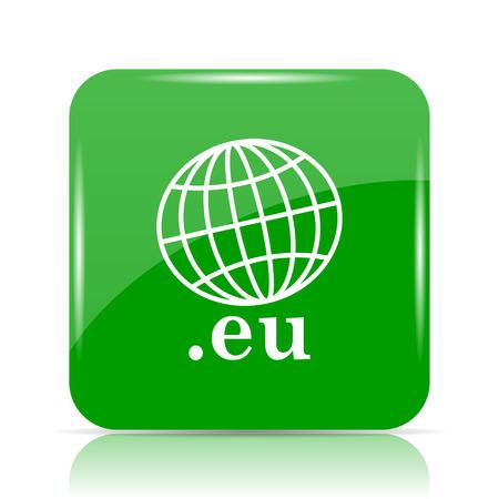 .eu icon. Internet button on white background.