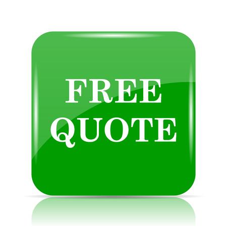Free quote icon. Internet button on white background. Stock Photo