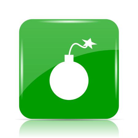 dynamite: Bomb icon. Internet button on white background.