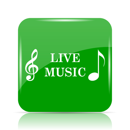 Live music icon. Internet button on white background. Stock Photo