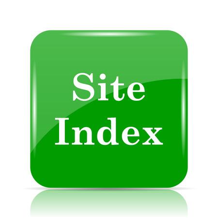 Site index icon. Internet button on white background.
