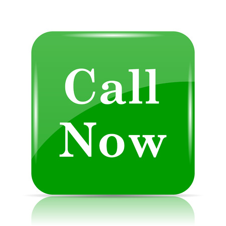 Call now icon. Internet button on white background. Stock Photo