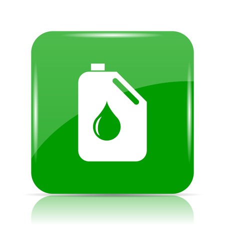 Oil can icon. Internet button on white background. Stock Photo