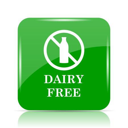 intolerancia: Dairy free icon. Internet button on white background. Foto de archivo