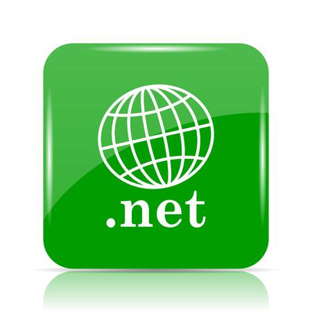 .net icon. Internet button on white background.