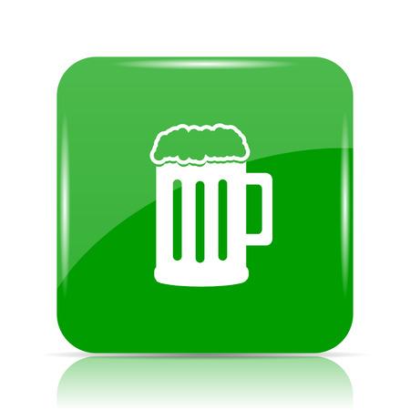 Beer icon. Internet button on white background. Stock Photo