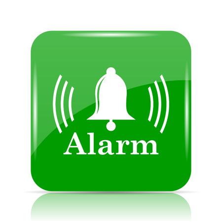 safe and sound: Alarm icon. Internet button on white background. Stock Photo
