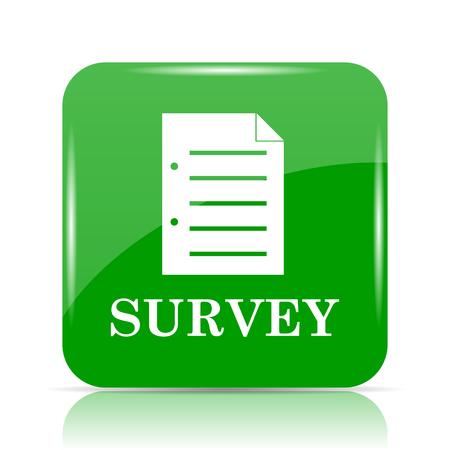 feedback form: Survey icon. Internet button on white background.