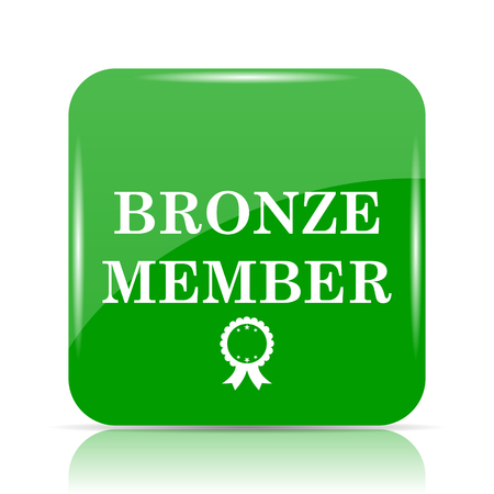 members only: Bronze member icon. Internet button on white background. Stock Photo