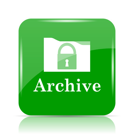 data archiving: Archive icon. Internet button on white background.