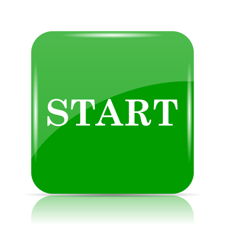 Start icon. Internet button on white background.