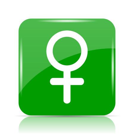 Female sign icon. Internet button on white background.