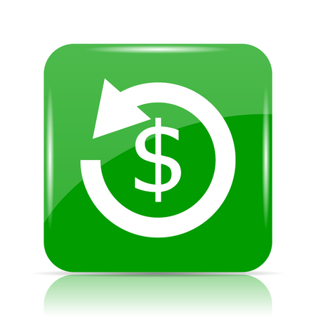 repayment: Refund icon. Internet button on white background.