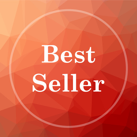 best seller icon best seller website button on red low poly stock