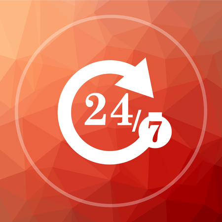 hrs: 42575 icon. 42575 website button on red low poly background.