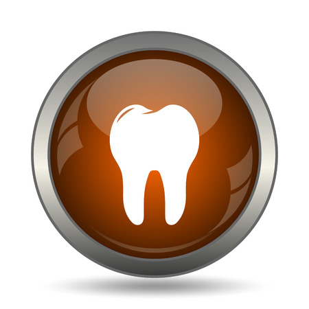 toothache: Tooth icon. Internet button on white background.