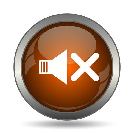 No sound icon. Internet button on white background.