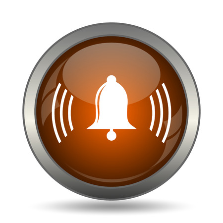 safe and sound: Bell icon. Internet button on white background.
