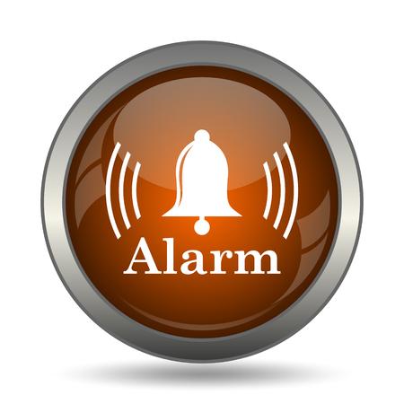 Alarm icon. Internet button on white background. Stock Photo