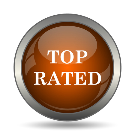 selected: Top rated  icon. Internet button on white background.