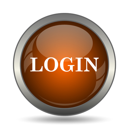 logging: Login icon. Internet button on white background. Stock Photo