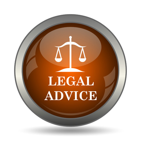 truthfulness: Legal advice icon. Internet button on white background.