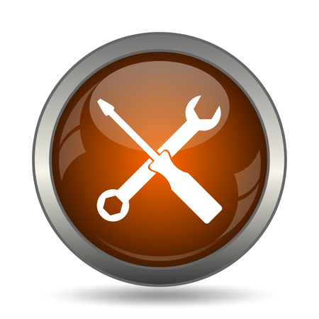 Tools icon. Internet button on white background.