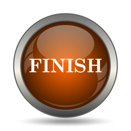Finish icon. Internet button on white background.