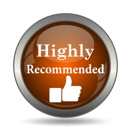 recommendations: Highly recommended icon. Internet button on white background.