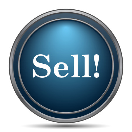 sell: Sell icon. Internet button on white background.